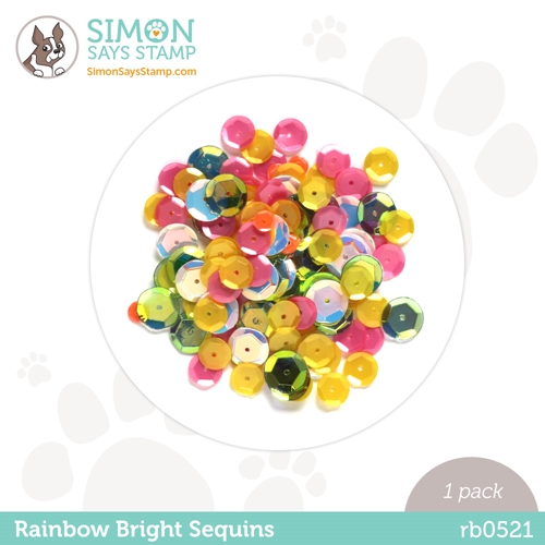 Simon Says Stamp Sequins RAINBOW BRIGHT rb0521 Rainbows Preview Image
