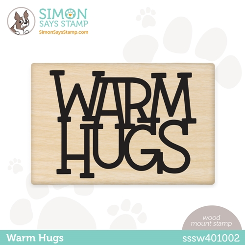 Simon Says Wood Stamp WARM HUGS sssw401002 Rainbows Preview Image