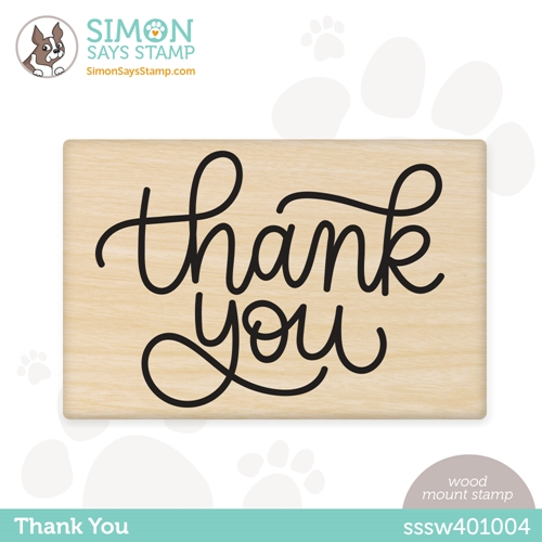 Simon Says Wood Stamp THANK YOU sssw401004 Rainbows Preview Image