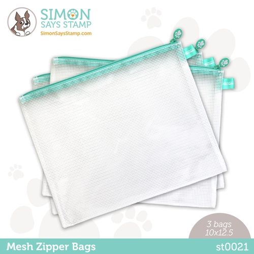 Simon Says Stamp MESH ZIPPER BAGS 3 Pack st0021 Rainbows Preview Image