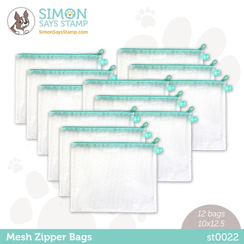 Simon Says Stamp MESH ZIPPER BAGS 12 Pack st0022 Rainbows Preview Image