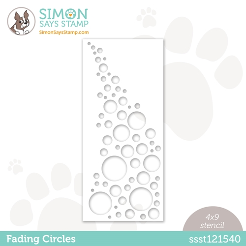 Simon Says Stamp Stencil FADING CIRCLES ssst121540 Rainbows Preview Image