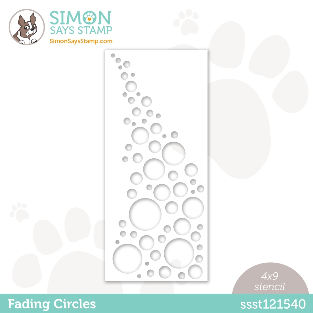 Simon Says Stamp Stencil FADING CIRCLES ssst121540 Rainbows zoom image