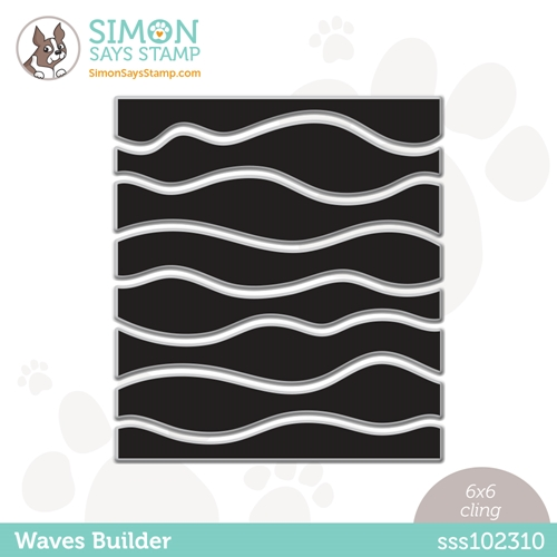 Simon Says Cling Stamp WAVES BUILDER sss102310 Rainbows Preview Image