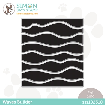 Simon Says Cling Stamp WAVES BUILDER sss102310 Rainbows