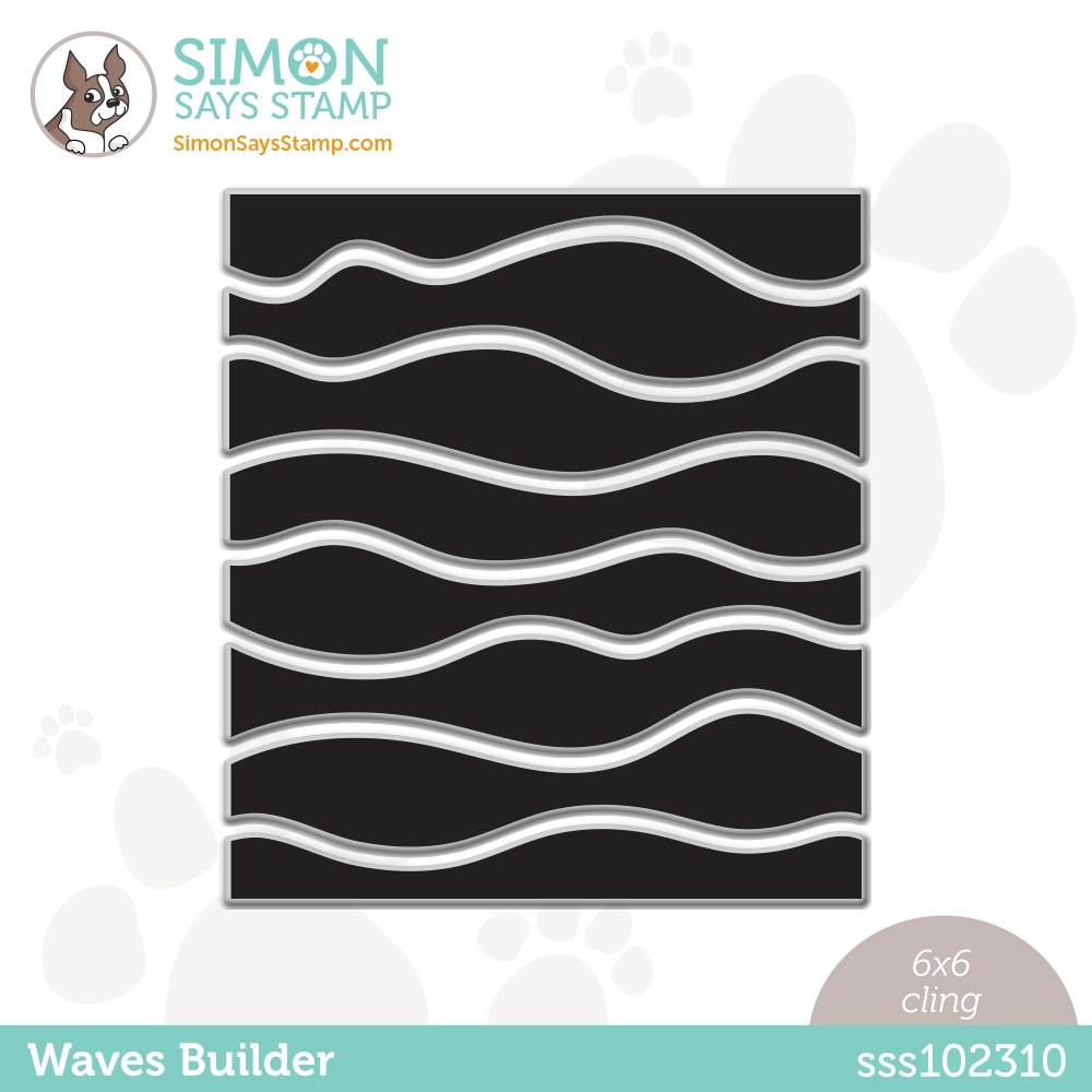 Simon Says Cling Stamp WAVES BUILDER sss102310 Rainbows zoom image