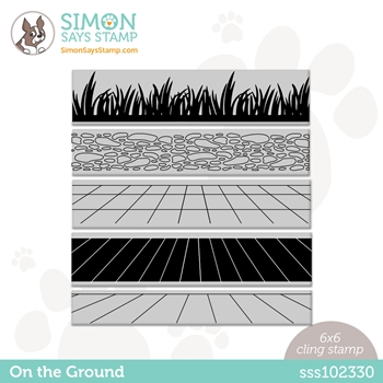 Simon Says Cling Stamp ON THE GROUND sss102330 Rainbows