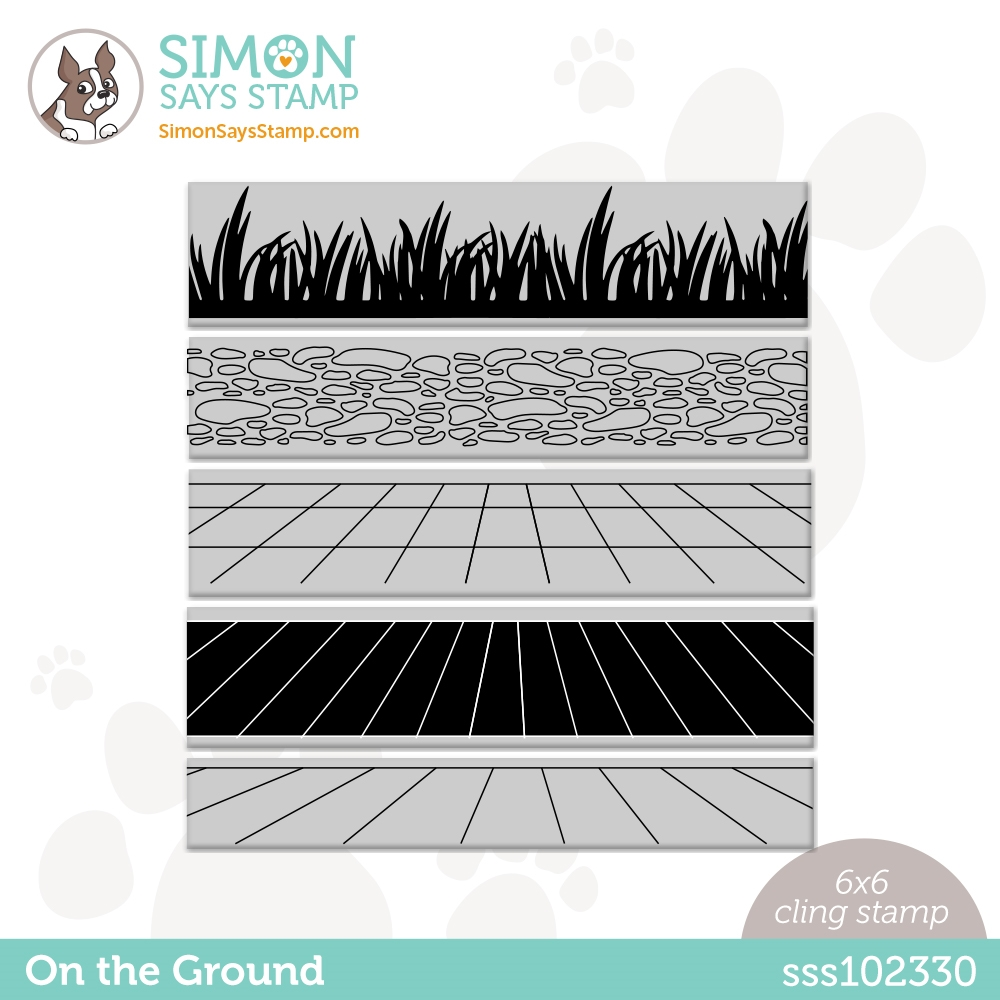 Simon Says Cling Stamp ON THE GROUND sss102330 Rainbows zoom image