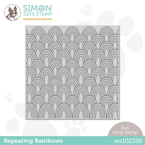 Simon Says Cling Stamp REPEATING RAINBOWS sss102339 Rainbows Preview Image