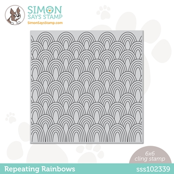 Simon Says Cling Stamp REPEATING RAINBOWS sss102339 Rainbows