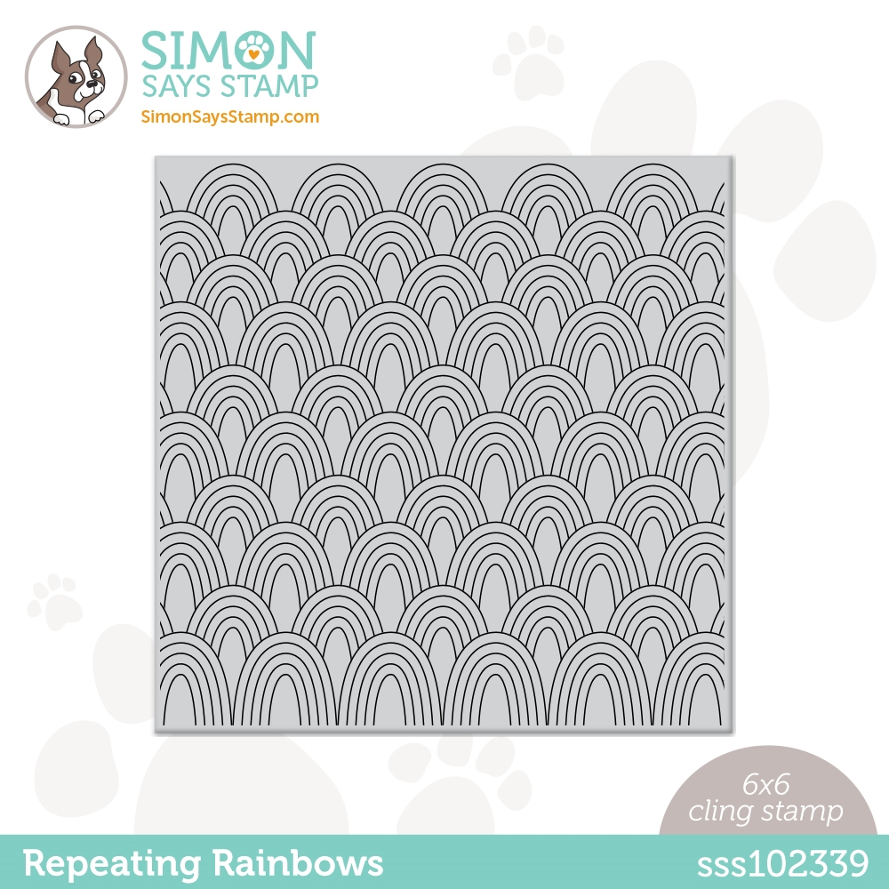 Simon Says Cling Stamp REPEATING RAINBOWS sss102339 Rainbows zoom image