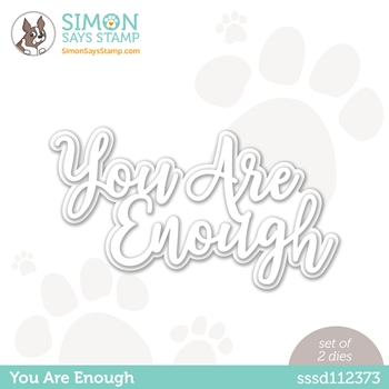 Simon Says Stamp YOU ARE ENOUGH Wafer Dies sssd112373 Rainbows