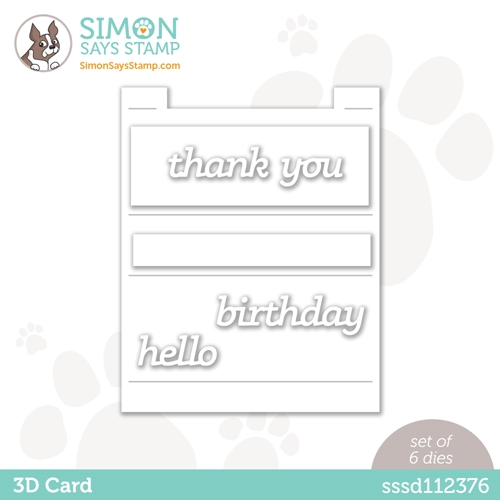 Simon Says Stamp 3D CARD Wafer Dies sssd112376 Rainbows Preview Image