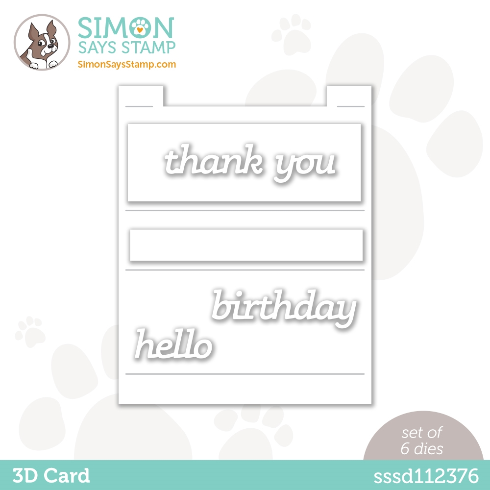 Simon Says Stamp 3D CARD Wafer Dies sssd112376 Rainbows zoom image