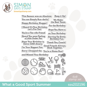 Simon Says Clear Stamps WHAT A GOOD SPORT SUMMER sss202196 Rainbows *