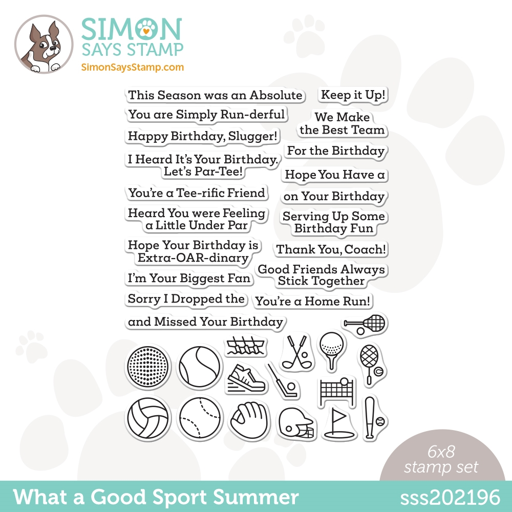 Simon Says Clear Stamps WHAT A GOOD SPORT SUMMER sss202196 Rainbows * zoom image