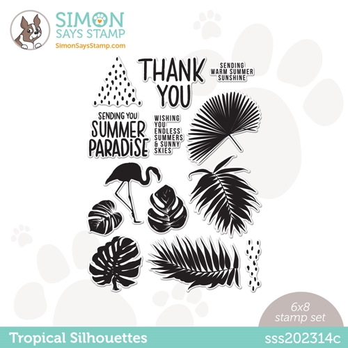 Simon Says Clear Stamps TROPICAL SILHOUETTES sss202314c Rainbows Preview Image