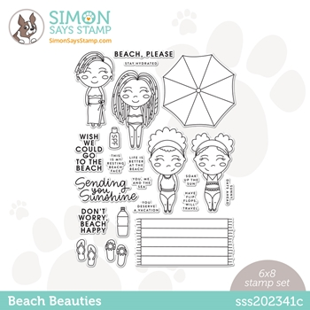 Simon Says Clear Stamps BEACH BEAUTIES sss202341c Rainbows