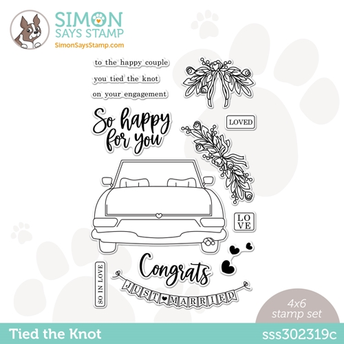 Simon Says Clear Stamps TIED THE KNOT sss302319c Rainbows Preview Image