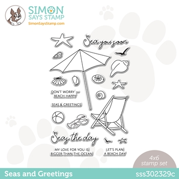 Simon Says Clear Stamps SEAS AND GREETINGS sss302329c Rainbows