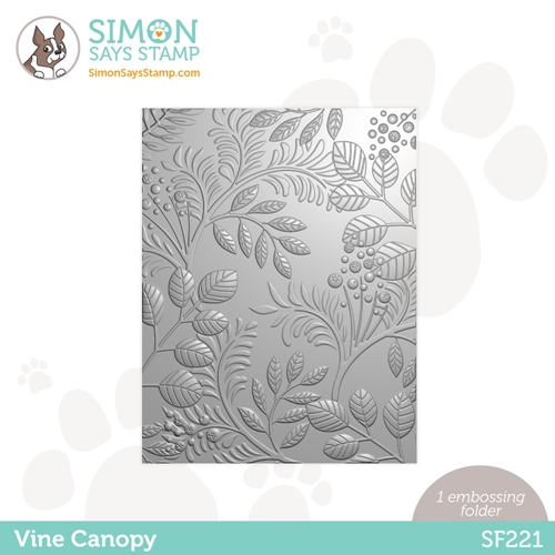Simon Says Stamp Embossing Folder VINE CANOPY sf221 Rainbows Preview Image