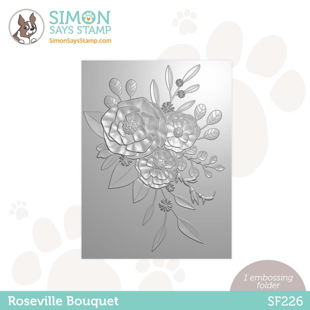 Simon Says Stamp Embossing Folder ROSEVILLE BOUQUET sf226 Rainbows zoom image