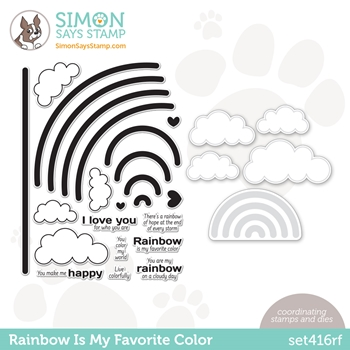 Simon Says Stamps and Dies RAINBOW IS MY FAVORITE COLOR set416rf Rainbows