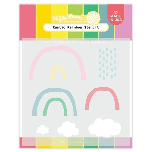Waffle Flower RUSTIC RAINBOW Stencil 420705 Preview Image