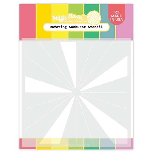 Waffle Flower ROTATING SUNBURST Stencil 420725 Preview Image