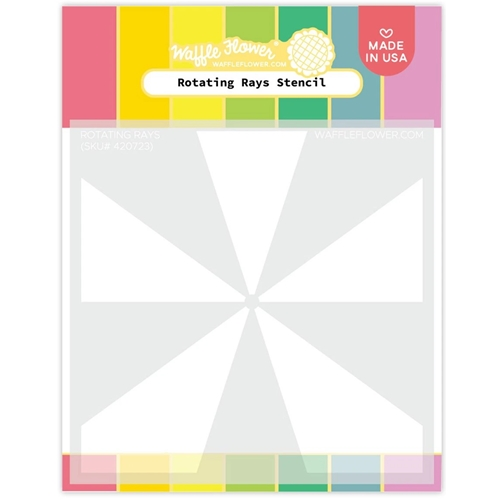 Waffle Flower ROTATING RAYS Stencil 420723 Preview Image