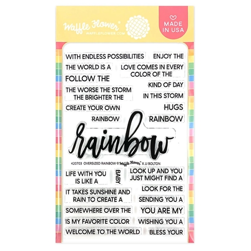 Waffle Flower OVERSIZED RAINBOW Clear Stamps 420703  Preview Image