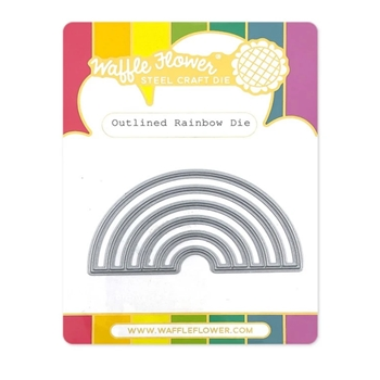 Waffle Flower OUTLINED RAINBOW Die 420710