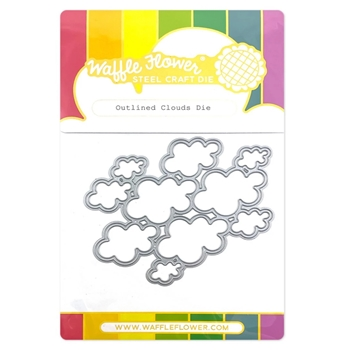 Waffle Flower OUTLINED CLOUDS Dies 420728