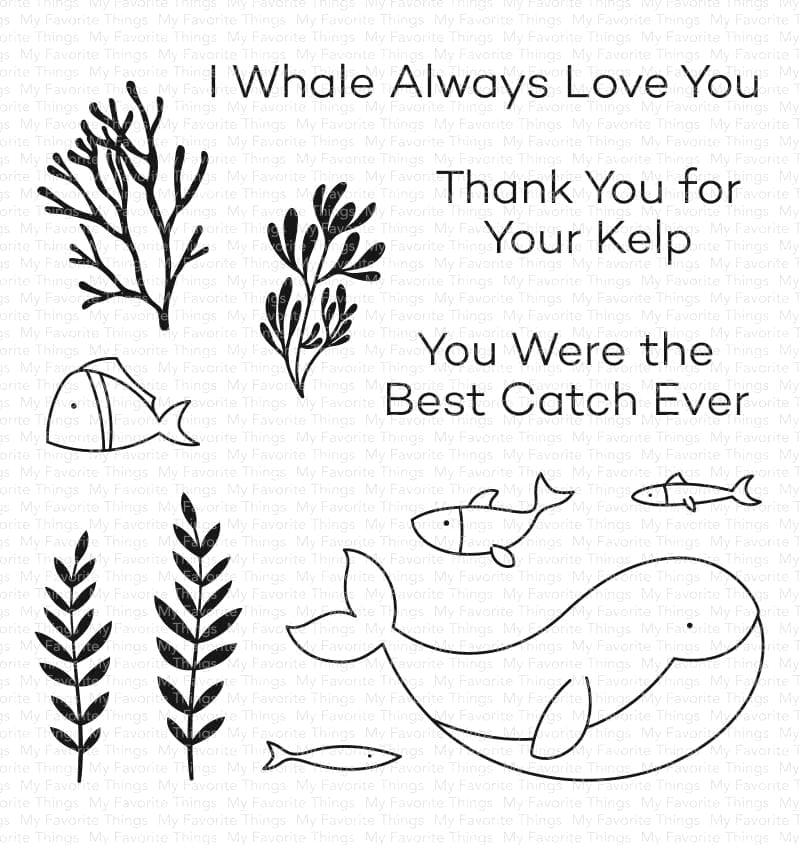 My Favorite Things BEST CATCH EVER Clear Stamps cs575 zoom image