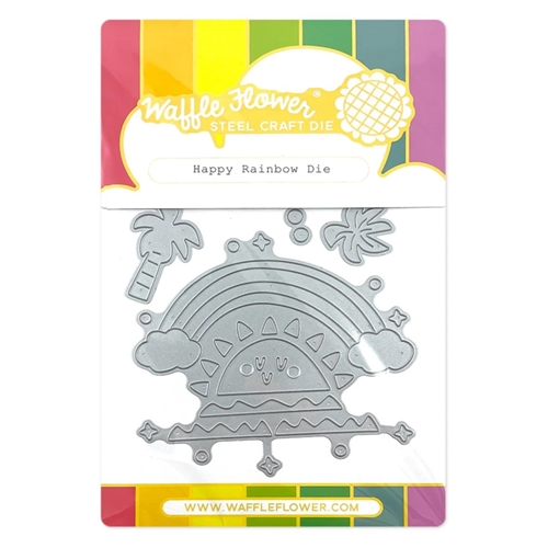 Waffle Flower HAPPY RAINBOW Dies 420722 Preview Image