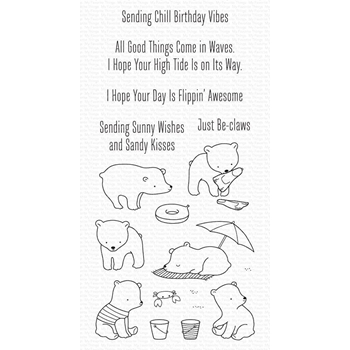 My Favorite Things BEACH BEAR Clear Stamps cs577