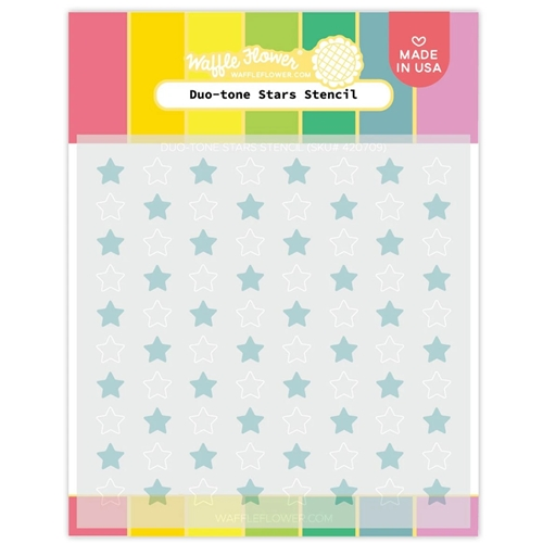 Waffle Flower DUO TONE STARS Stencil 420709  Preview Image