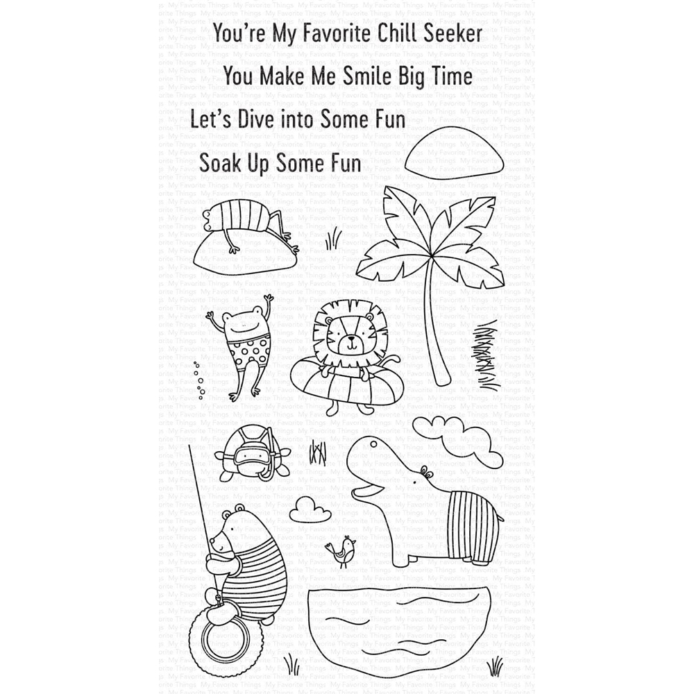 My Favorite Things SWIMMING HOLE FRIENDS Clear Stamps cs574 zoom image