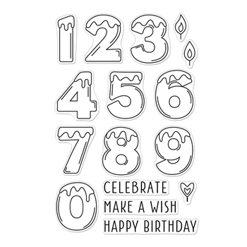 Hero Arts Clear Stamps NUMBER CANDLES CM549