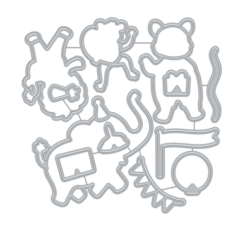 Hero Arts Frame Cuts Dies PARTY ANIMALS DI905 Preview Image