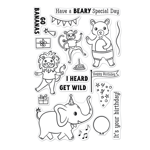 Hero Arts Clear Stamps PARTY ANIMALS CM548 Preview Image