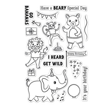 Hero Arts Clear Stamps PARTY ANIMALS CM548