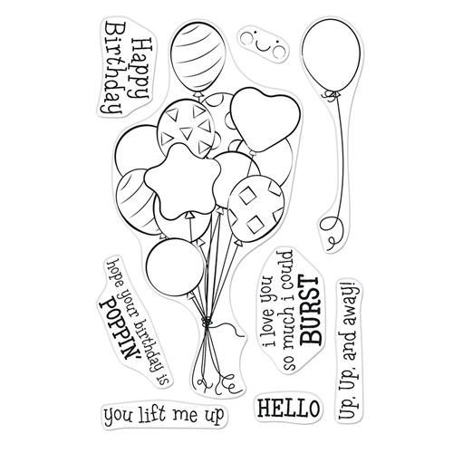 Hero Arts Clear Stamps BUNCH OF BALLOONS CM547 Preview Image
