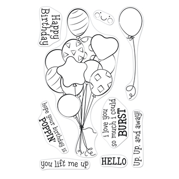 Hero Arts Clear Stamps BUNCH OF BALLOONS CM547