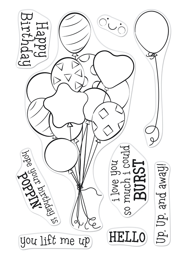 Hero Arts Clear Stamps BUNCH OF BALLOONS CM547 zoom image