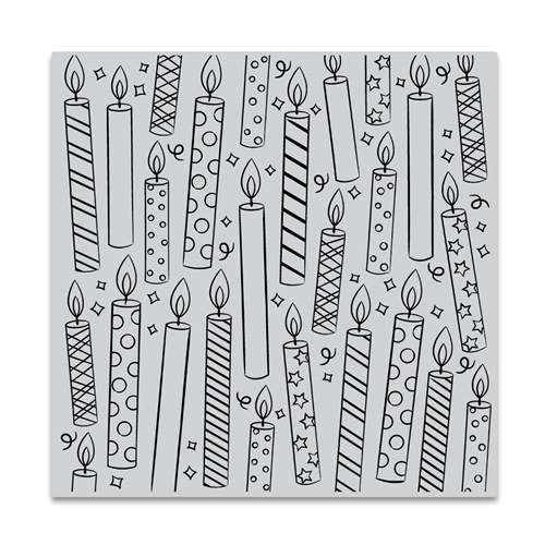 Hero Arts Cling Stamp CANDLES BOLD PRINTS CG852 Preview Image