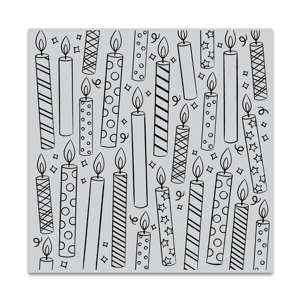 Hero Arts Cling Stamp CANDLES BOLD PRINTS CG852 zoom image