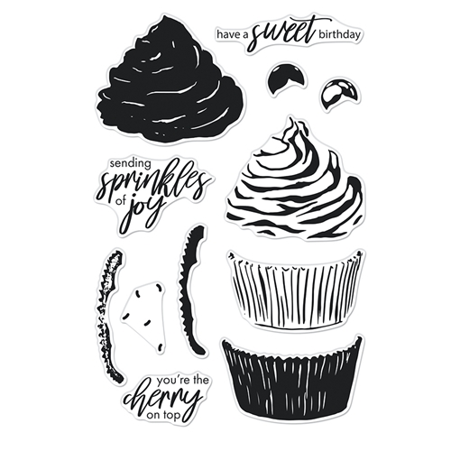 Hero Arts Clear Stamps COLOR LAYERING CUPCAKE CM546 Preview Image