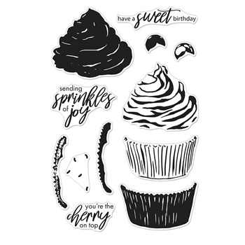 Hero Arts Clear Stamps COLOR LAYERING CUPCAKE CM546