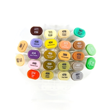 Tonic MIDTONE COLLECTION Alcohol Markers 24 Set Nuvo 351n **